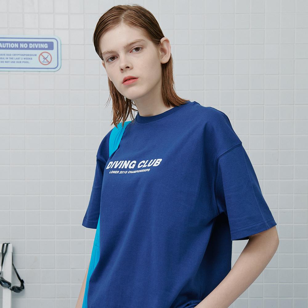 [로너] Diving club tshirt-dark blue