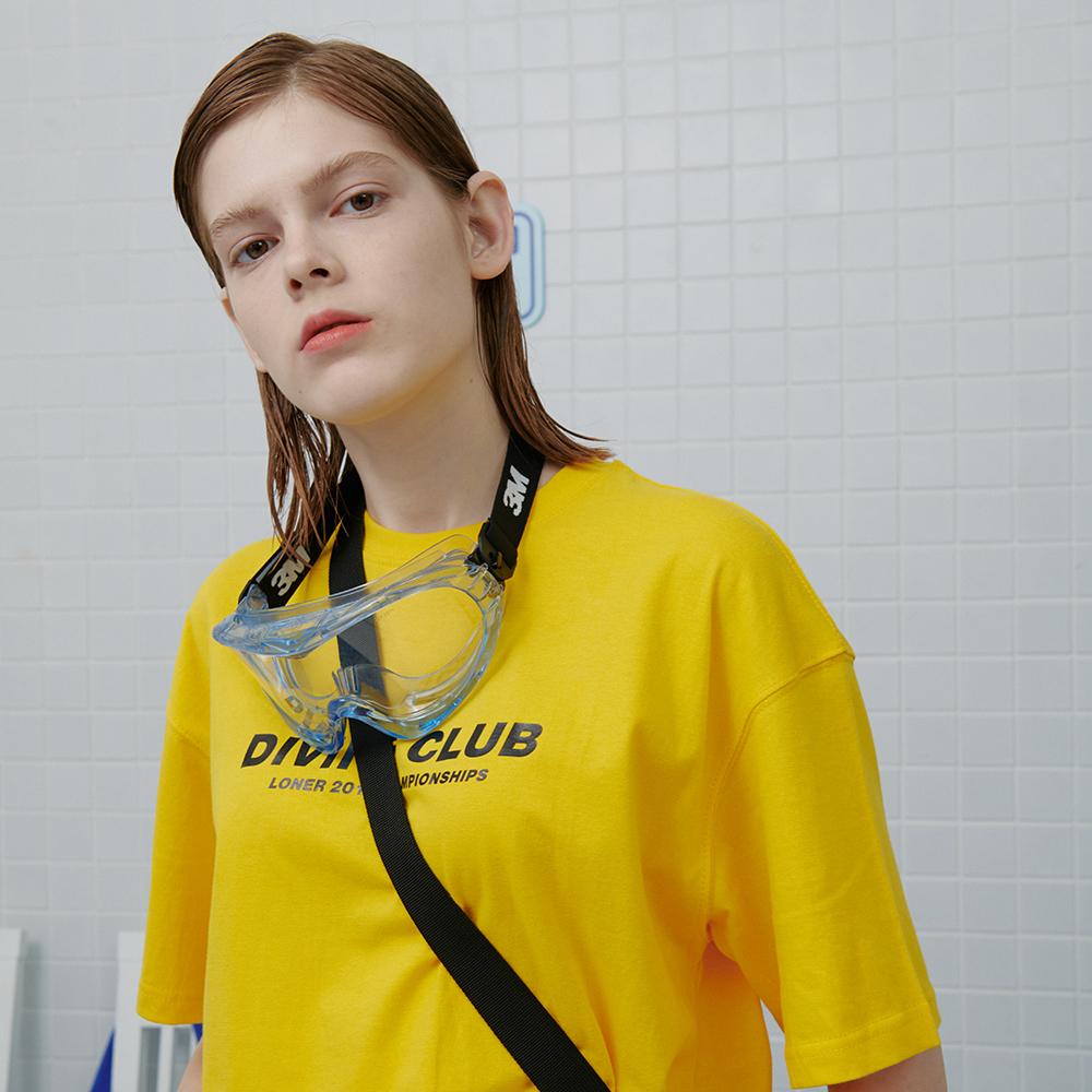 [로너] Diving club tshirt-yellow