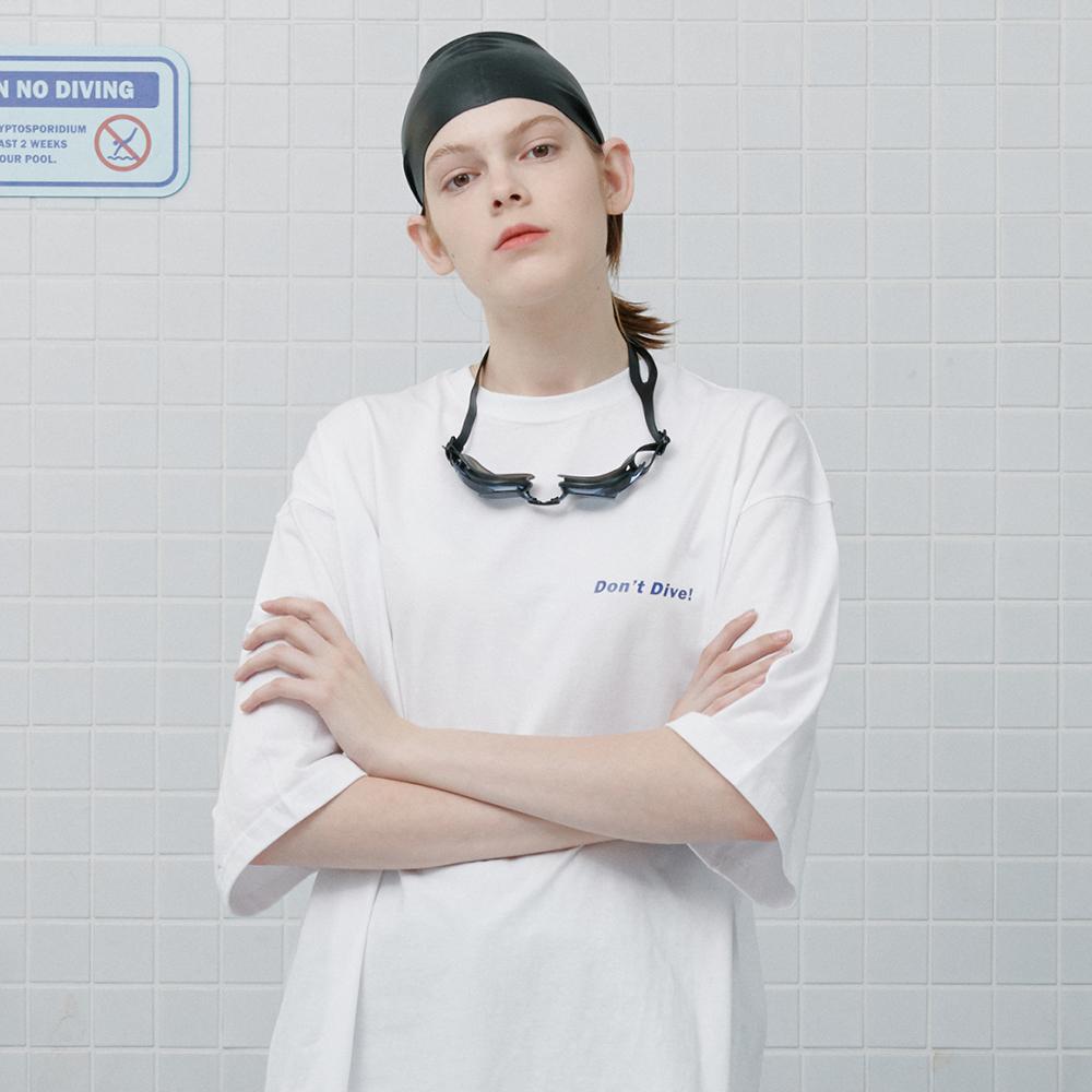 [로너] Dont dive tshirt-white