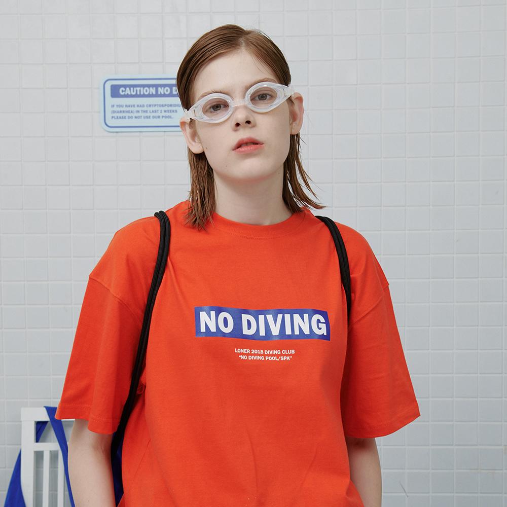[로너] No diving tshirt-orange