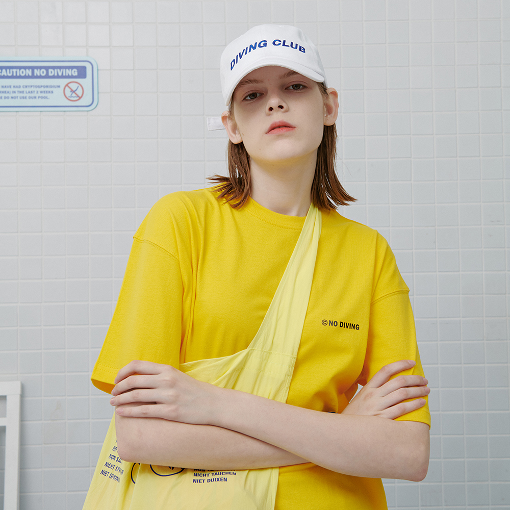 [로너] No diving tshirt-yellow
