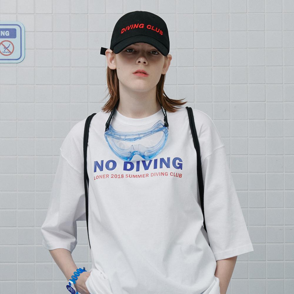 [로너] Summer diving club tshirt-white