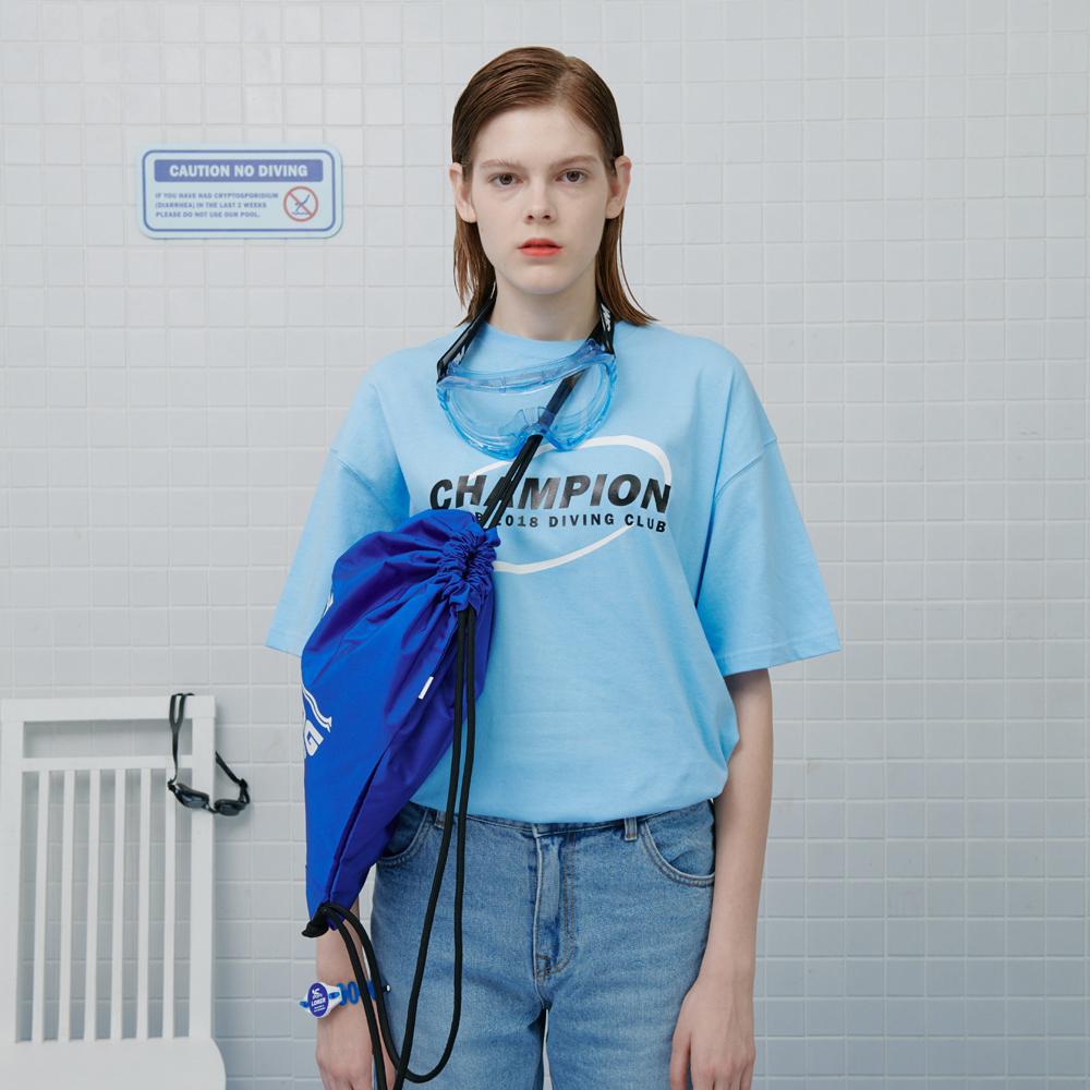 [로너] Swimming string bag-blue