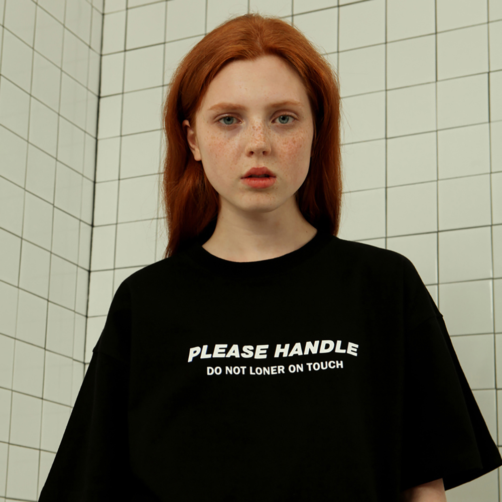[로너] Please handle tshirt-black