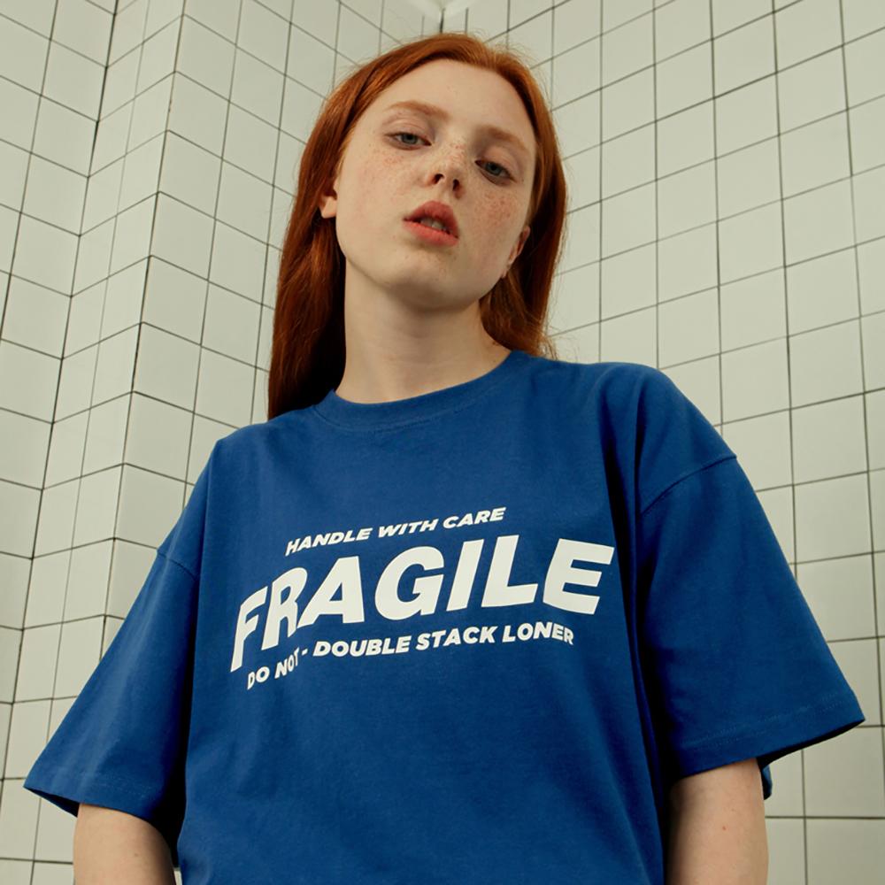 [로너] Fragile tshirt-blue