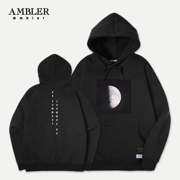 [엠블러]AMBLER 신상 자수 후드티 AHP302-블랙
