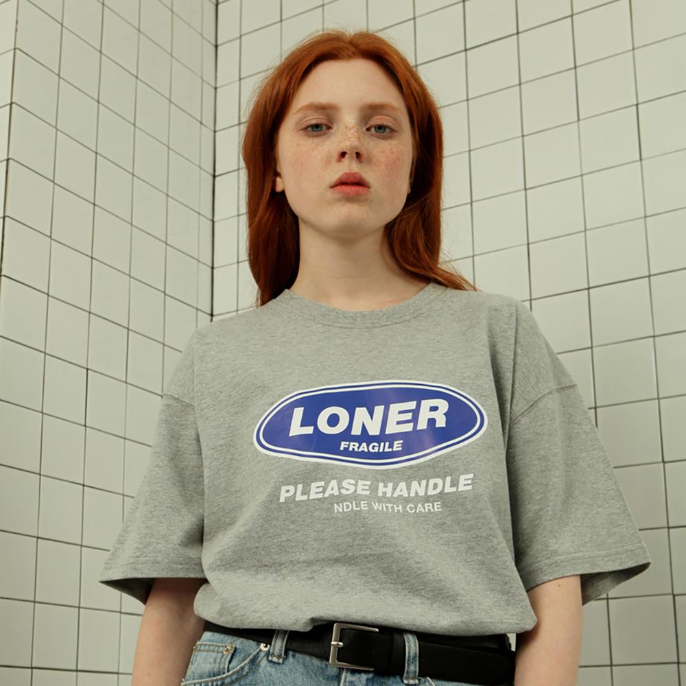 [로너] Loner twofold tshirt-gray