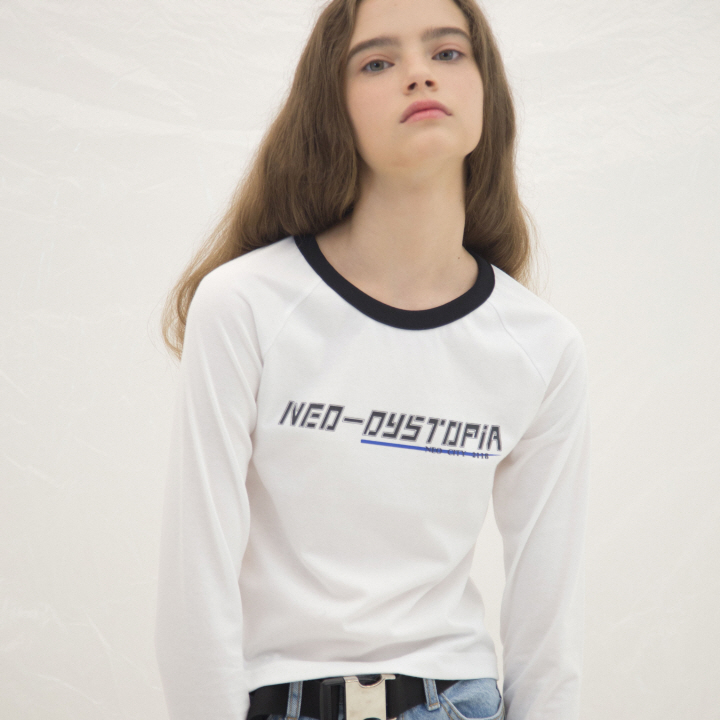 NEO-DISTOPIA RAGLAN SLEEVE(WHITE)