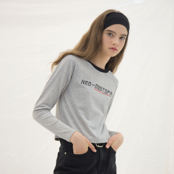NEO-DISTOPIA RAGLAN SLEEVE(GREY)