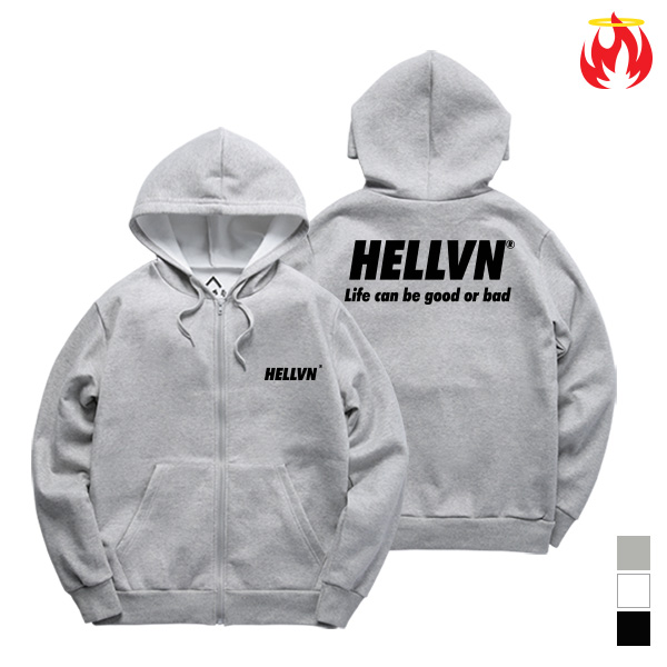 Life Means Hellvn Zip-Up Hoody shirts - H8S-022 - 후드집업