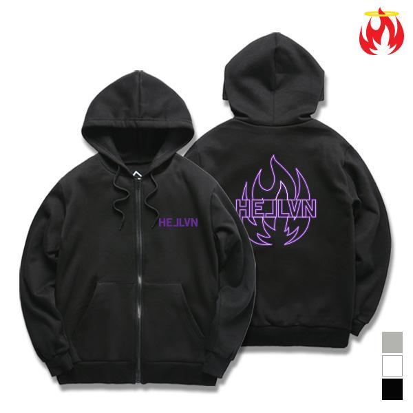 [크루비단독](세트가능) Purple Fire Hellvn Zip-Up Hoody shirts - 후드집업 (SBJH8S-001)