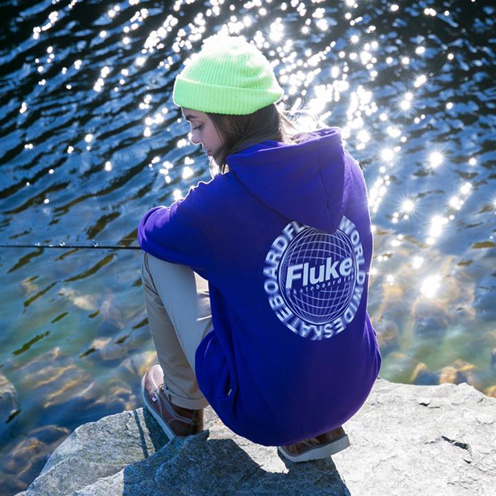 플루크 서클무빙 로고 후드티셔츠 FHT018N203
