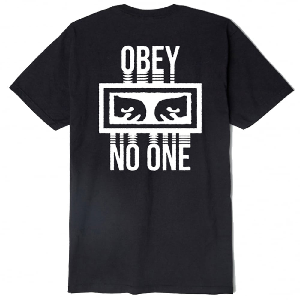 [OBEY] 오베이반팔 NO ONE 165361559 BLACK