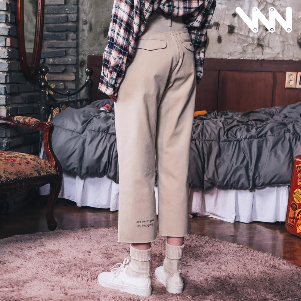 [더블유브이프로젝트] 코코 와이드 코튼팬츠 크림 MJLP7184