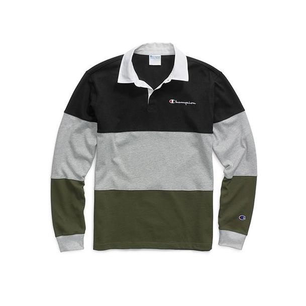 챔피온 럭비티셔츠T3415  BLACK/OXFORD GREY
