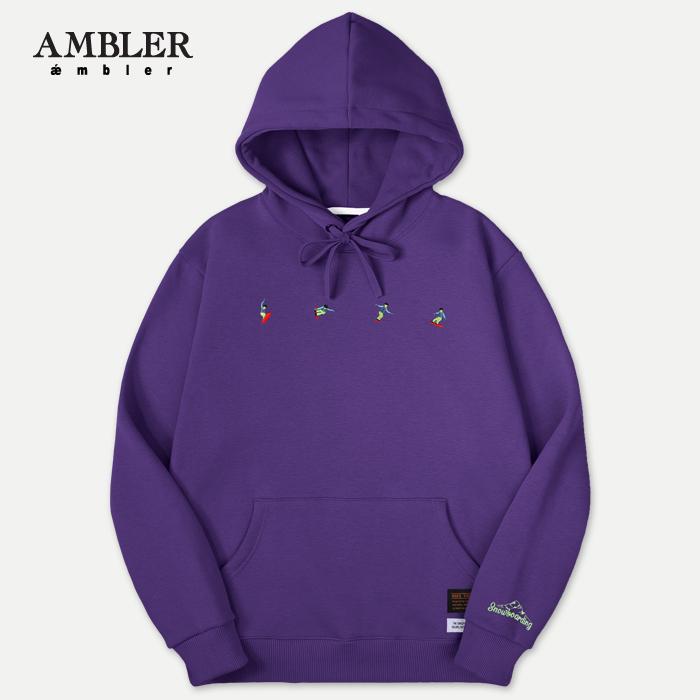 [엠블러]AMBLER 신상 자수 후드티 AHP509-퍼플