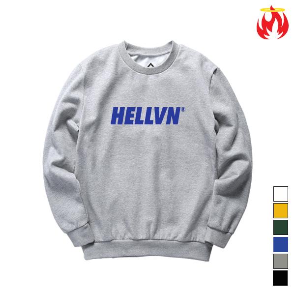 [크루비단독]Basic Logo Hellvn Sweatshirts - 맨투맨 <SBHH8S-026>