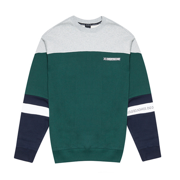 [094]ONE-SIDED SWEATSHIRTS(GREEN)