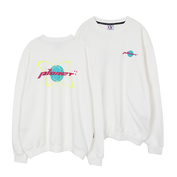 [202]PLANET SWEATSHIRTS(WHITE)