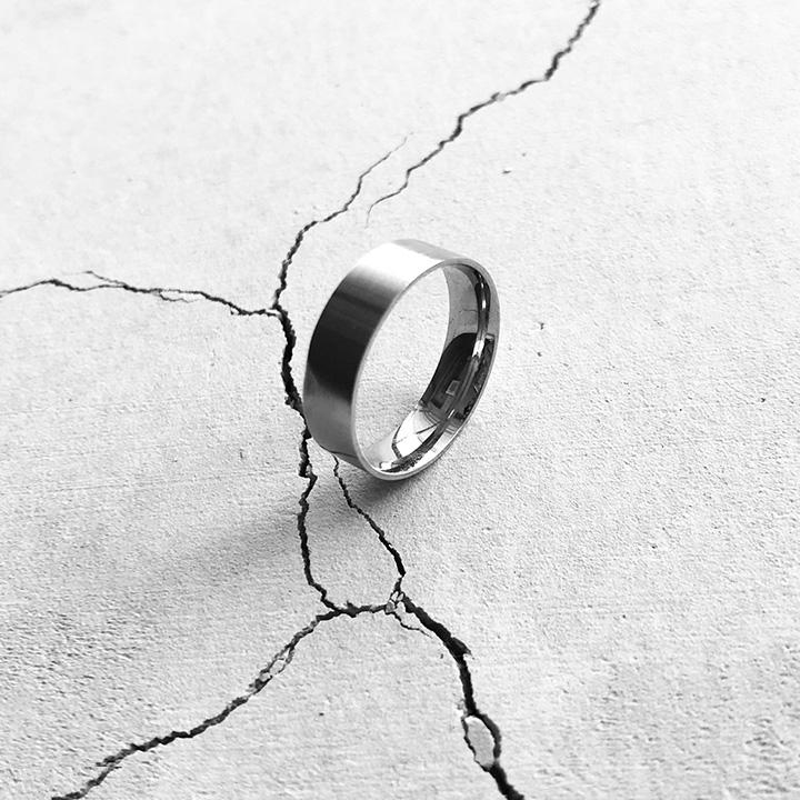 [Unisex]MODERN STEEL RING(sliver)