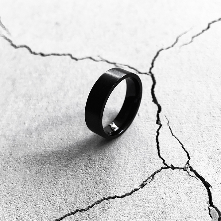 [Unisex]MODERN STEEL RING(BLACK)