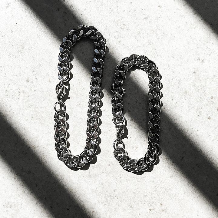 [Unisex]TWIST BRACELET (silver)