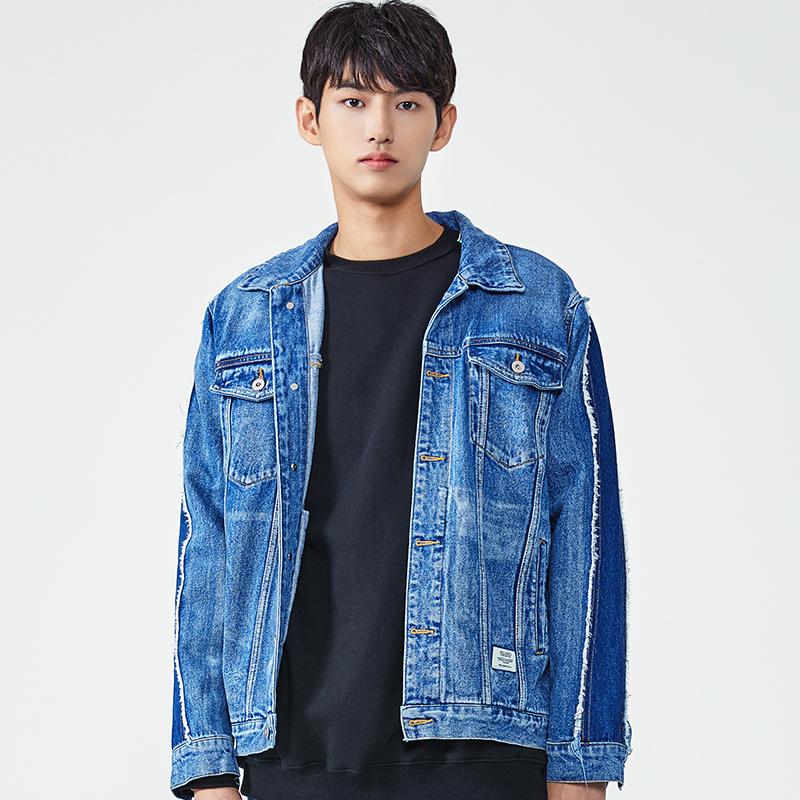 18FW 데미지 워싱 데님 자켓 (블루)