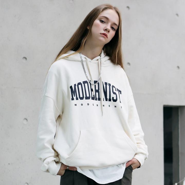 [Unisex]MODERNIST HOODIE(ivory)