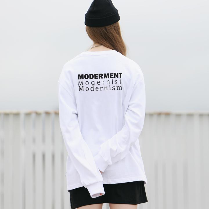 [Unisex]SLOGAN BANDING T-SHIRTS(white)