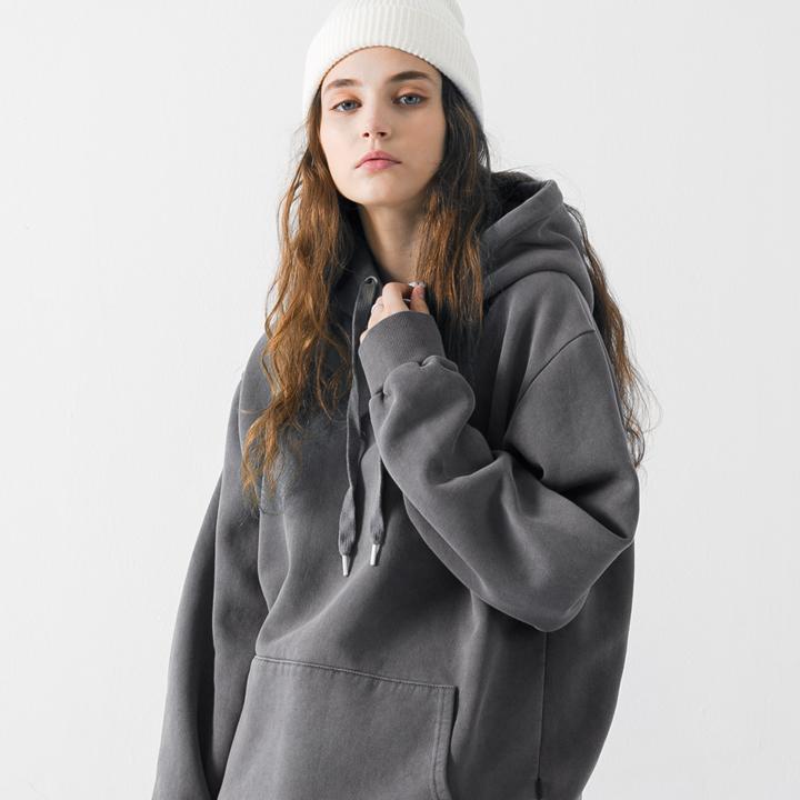 18fw 플루크 women 피그먼트 후드티셔츠 FHT018Z702 / 5color