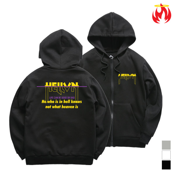 Hell Not Know Hellvn Zip-Up Hoody shirts - H8S-017 - 후드집업