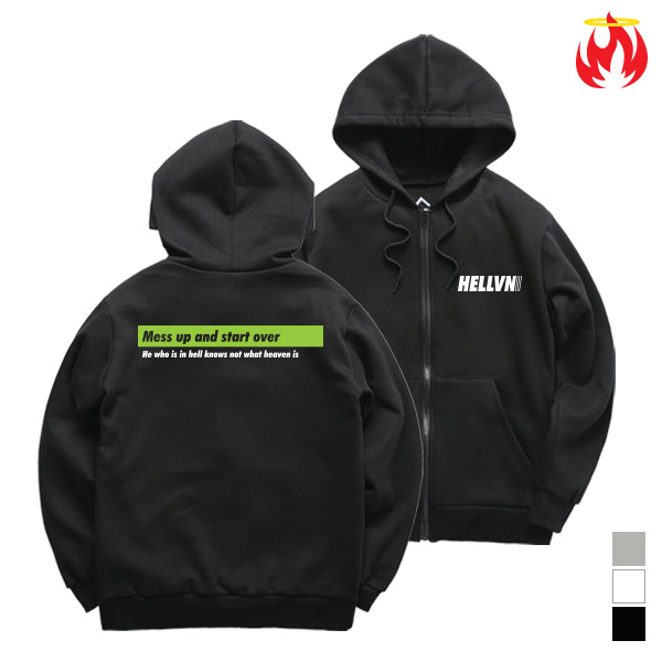[크루비단독]Mess Up With Hellvn Zip-Up Hoody shirts - 후드집업 <SBJH8S-018>