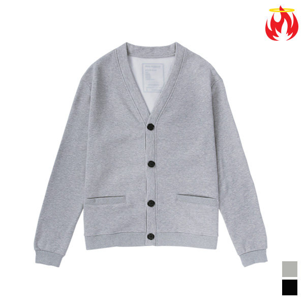 Cotton Basic Hellvn Cardigan - A_08 - Gray - 기모가디건