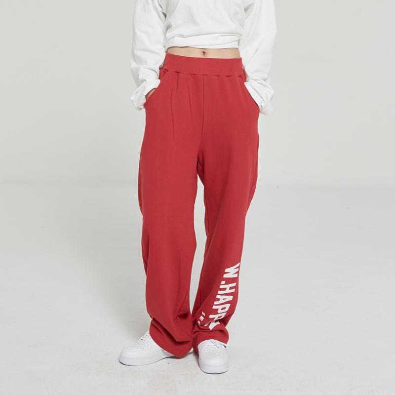 LOGO BANDING PANTS (RED)