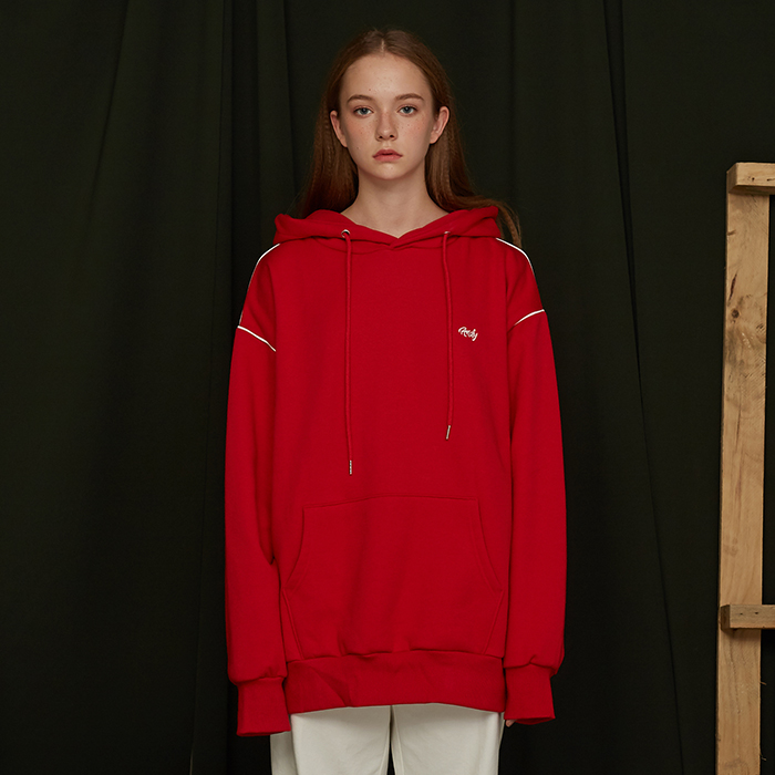 ANDY PIPING HOODIE / RED