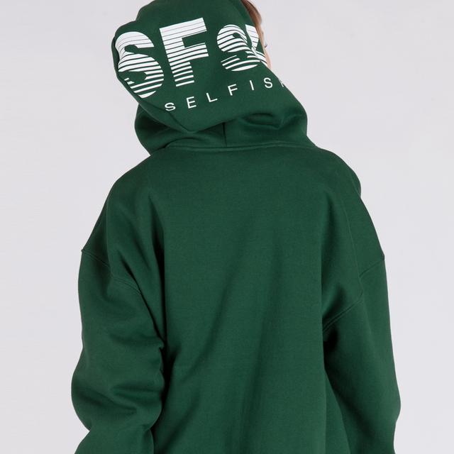 SFsH PRINTED BASIC HOODIE (SAF3HD01) (GREEN)