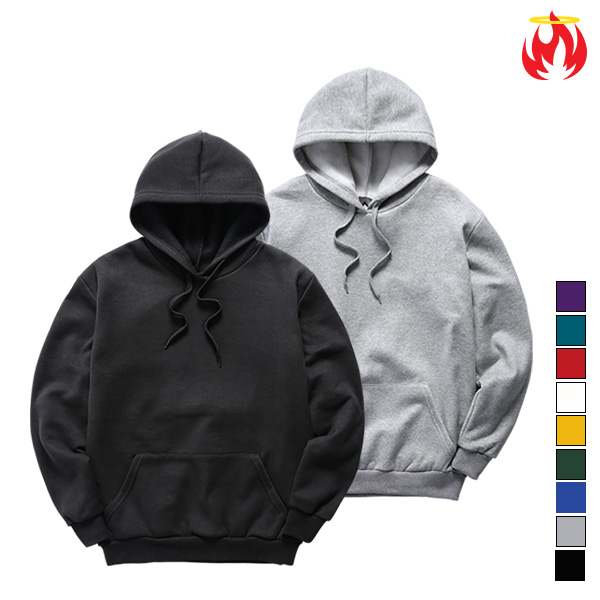 Cotton Basic Hellvn Hoody - Muji - 무지후드티