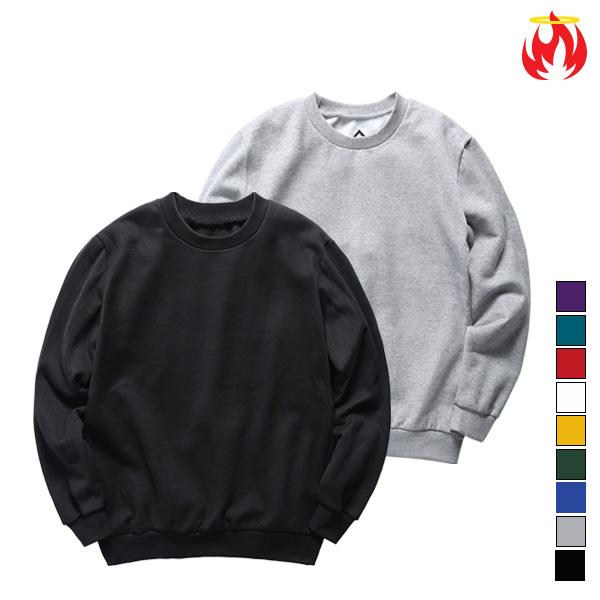 Cotton Basic Hellvn Sweatshirts - Muji - 무지맨투맨