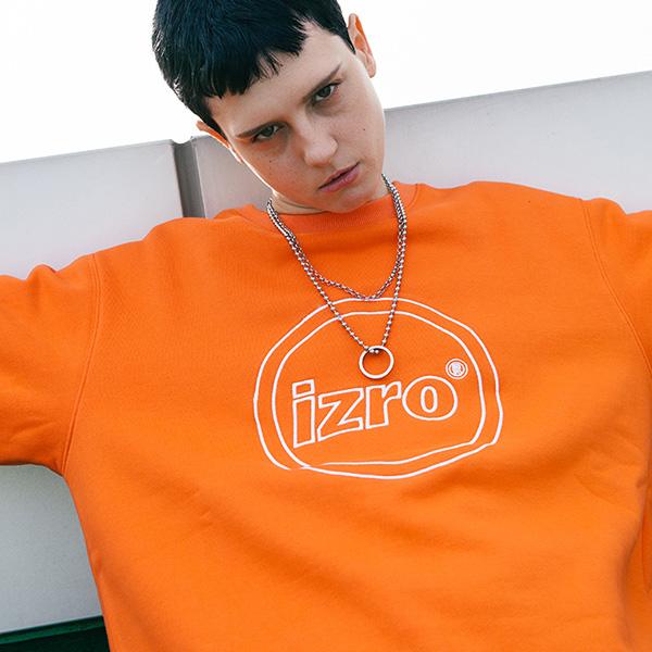 IZRO CIRCLE SWEAT SHIRT - ORANGE