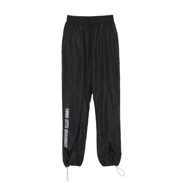 [184]STRING TRACK PANTS(BLACK)
