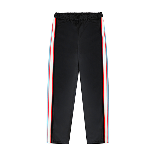 [076]SEMI BAGGY SIDE LINE PANTS(BLACK)