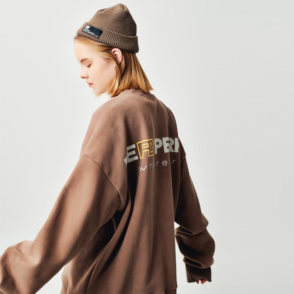 [UNISEX](기모) 웨어에버 헤비코튼 오버핏 맨투맨 (Cocoa)