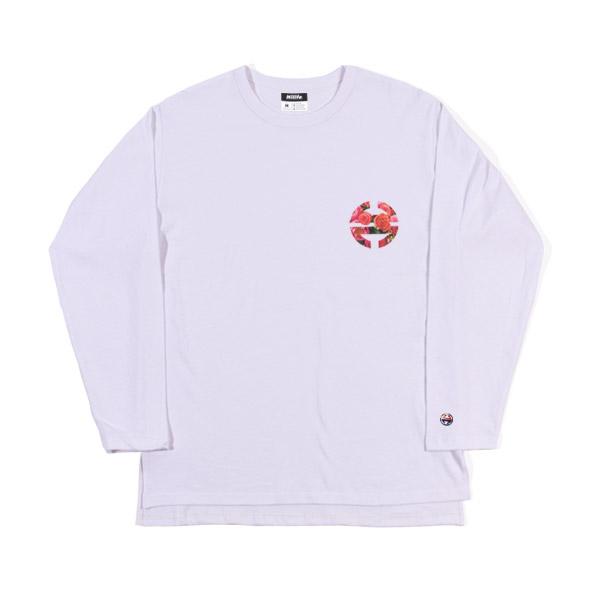 플로랄로고 긴팔티셔츠 흰색 HLLT000010