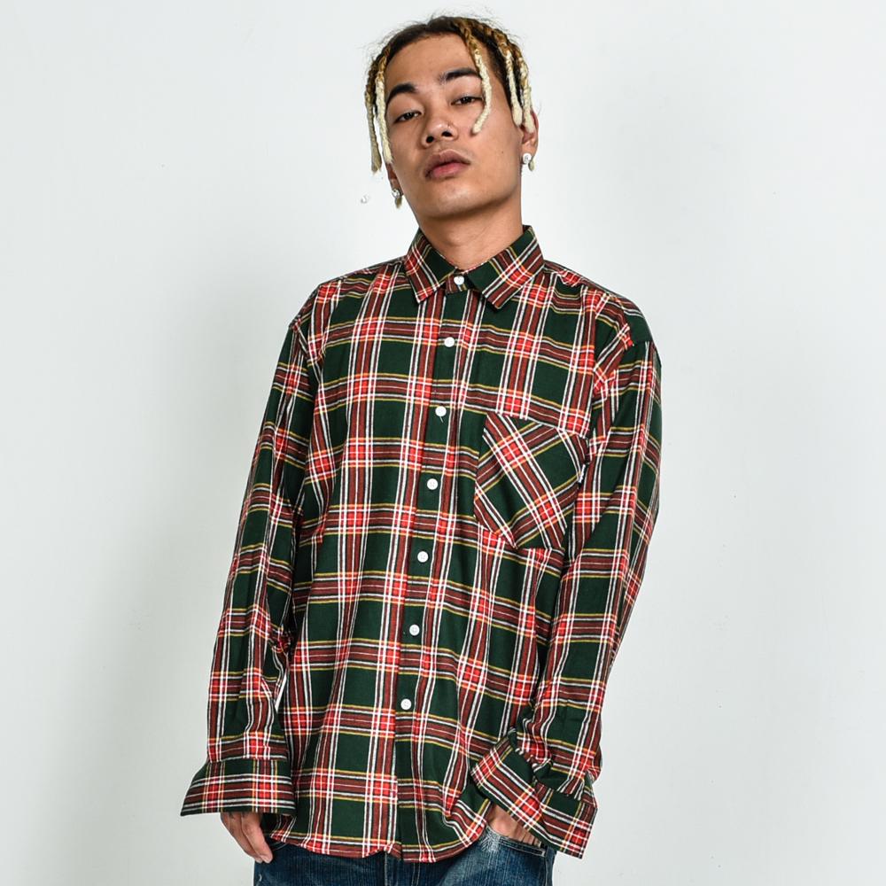 GF British Check Shirt Green