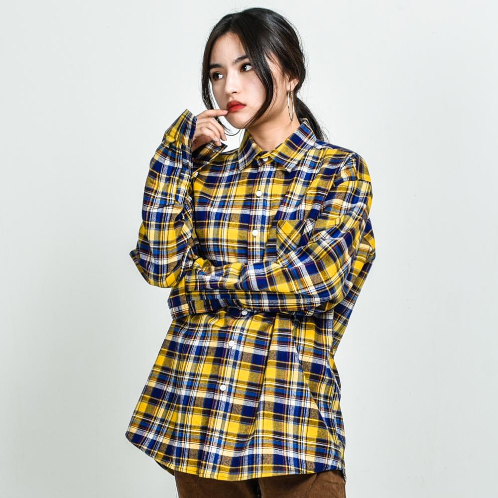 GF Multi Check Shirt Yellow