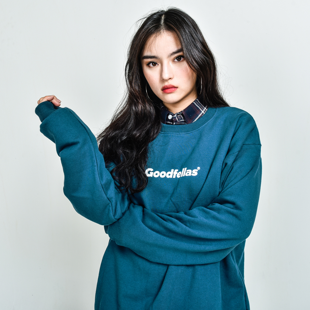 GOODFELLAS Logo Crewneck Bluegreen