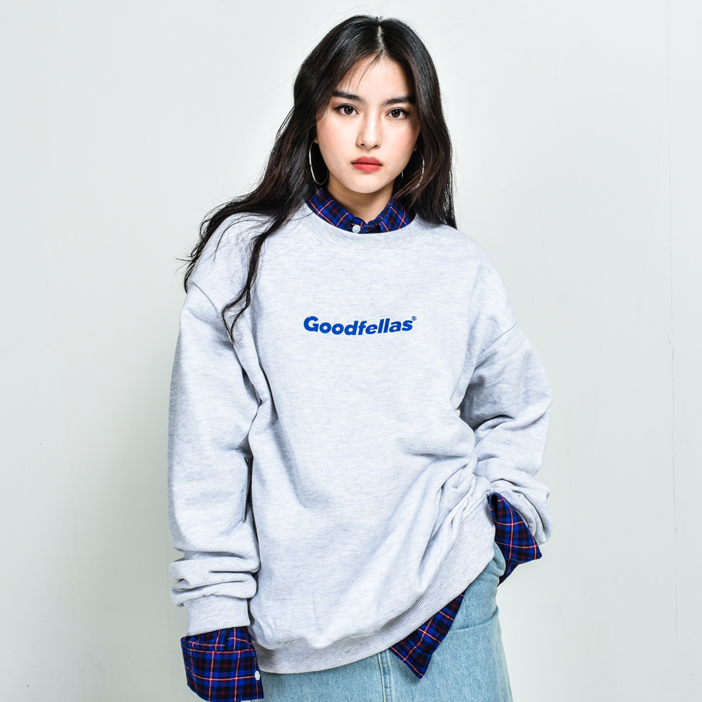 GOODFELLAS Logo Crewneck White