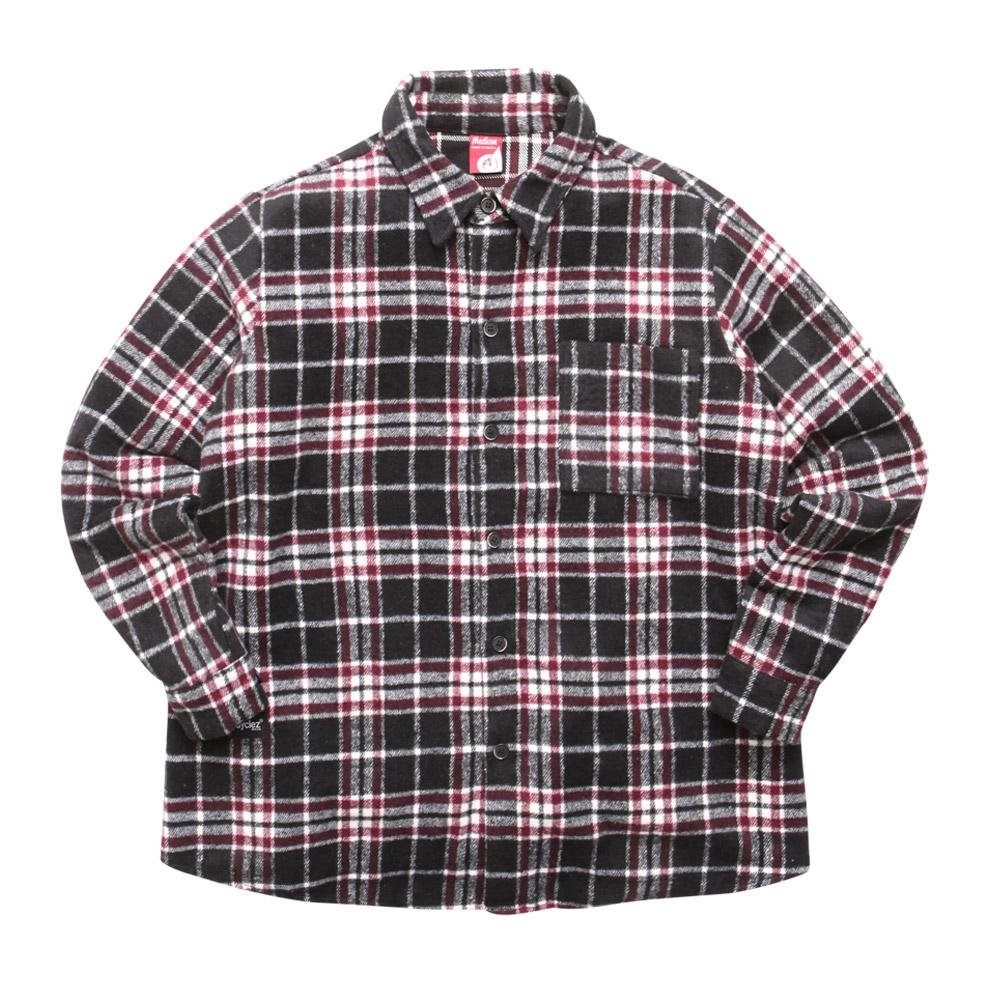 [다이클레즈] 다빈치 울체크 셔츠 검정 KHLS5059