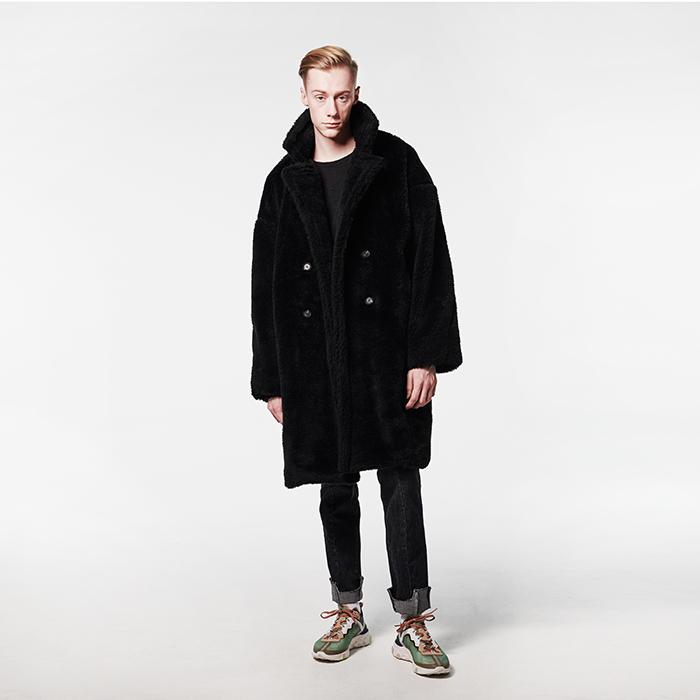 [데드엔드] BLACK FUR LONG COAT
