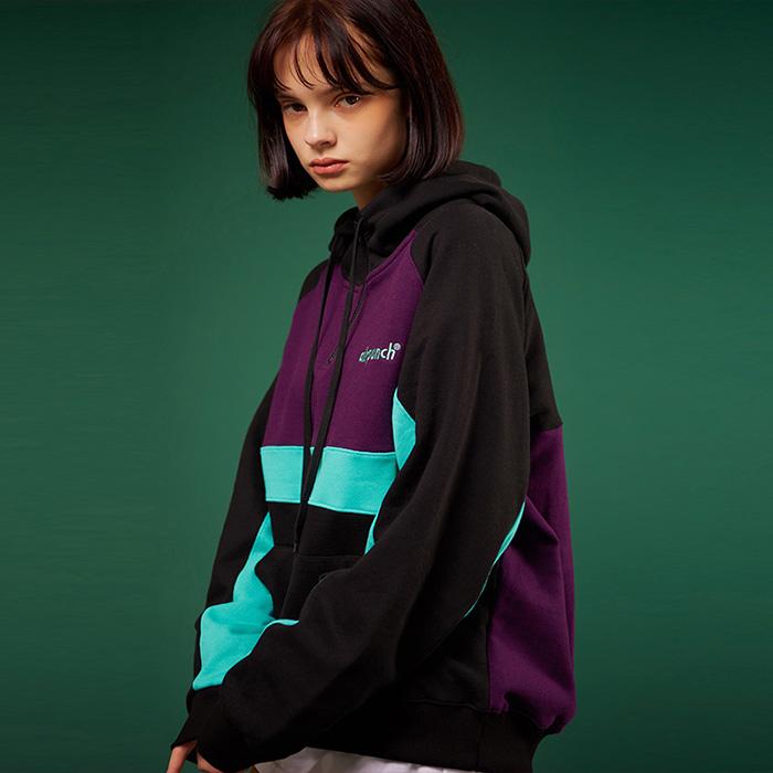 Com Half Zip-up Hoodie_purple
